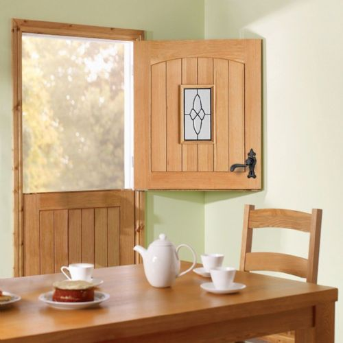 Stable Oak Triple Glazed External Door